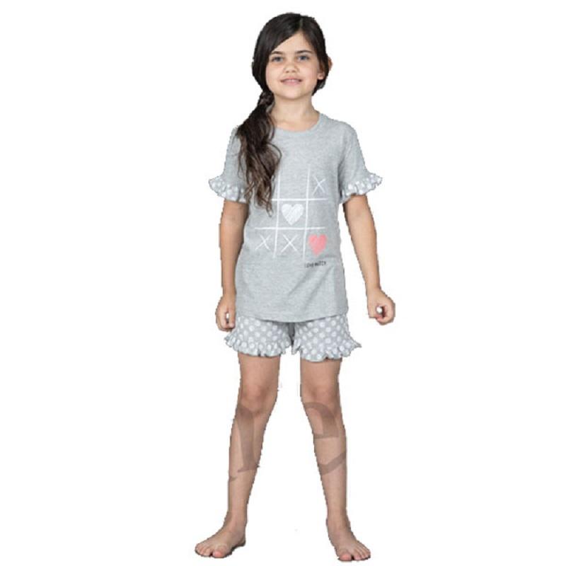 3d4717c9f44 Πυτζάμα Παιδική Για Κορίτσι Με Κοντό Μανίκι & Κοντό Παντελόνι «Tris» Amelie